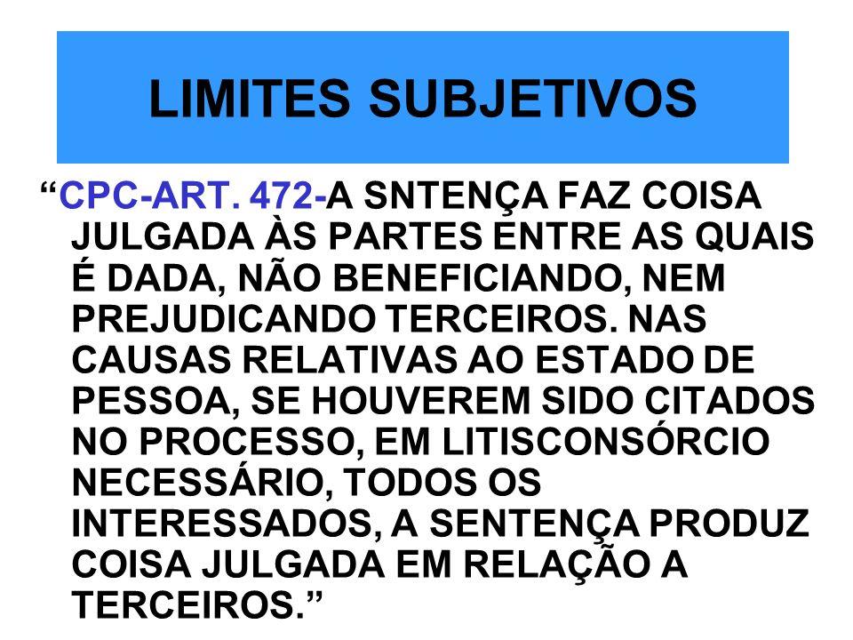 LIMITES SUBJETIVOS