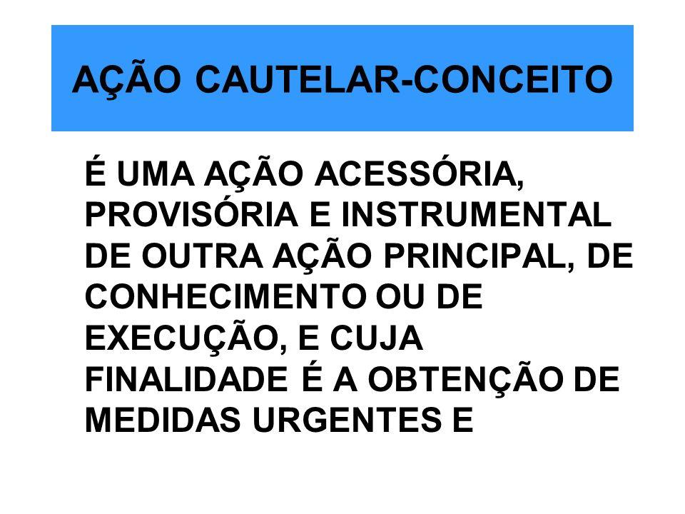 AÇÃO CAUTELAR-CONCEITO