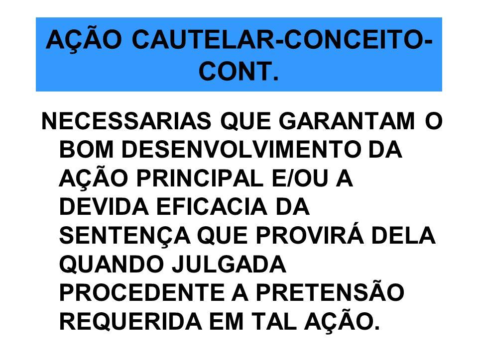 AÇÃO CAUTELAR-CONCEITO-CONT.