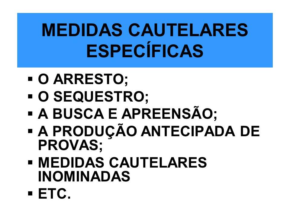 MEDIDAS CAUTELARES ESPECÍFICAS