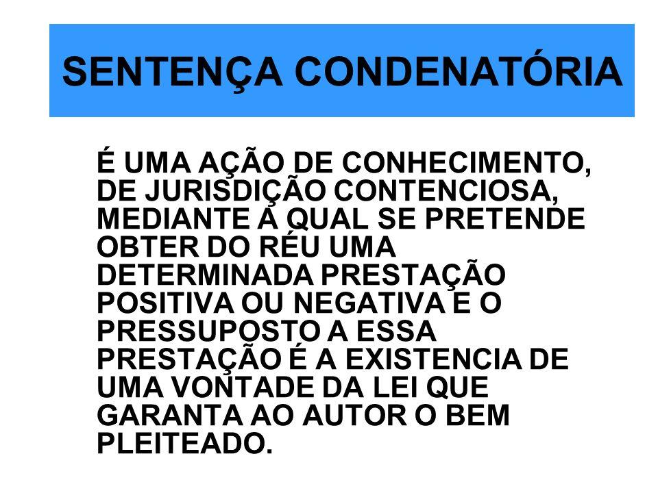 SENTENÇA CONDENATÓRIA