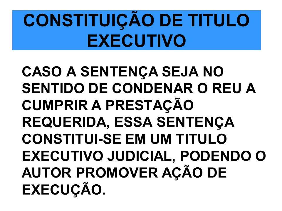 CONSTITUIÇÃO DE TITULO EXECUTIVO
