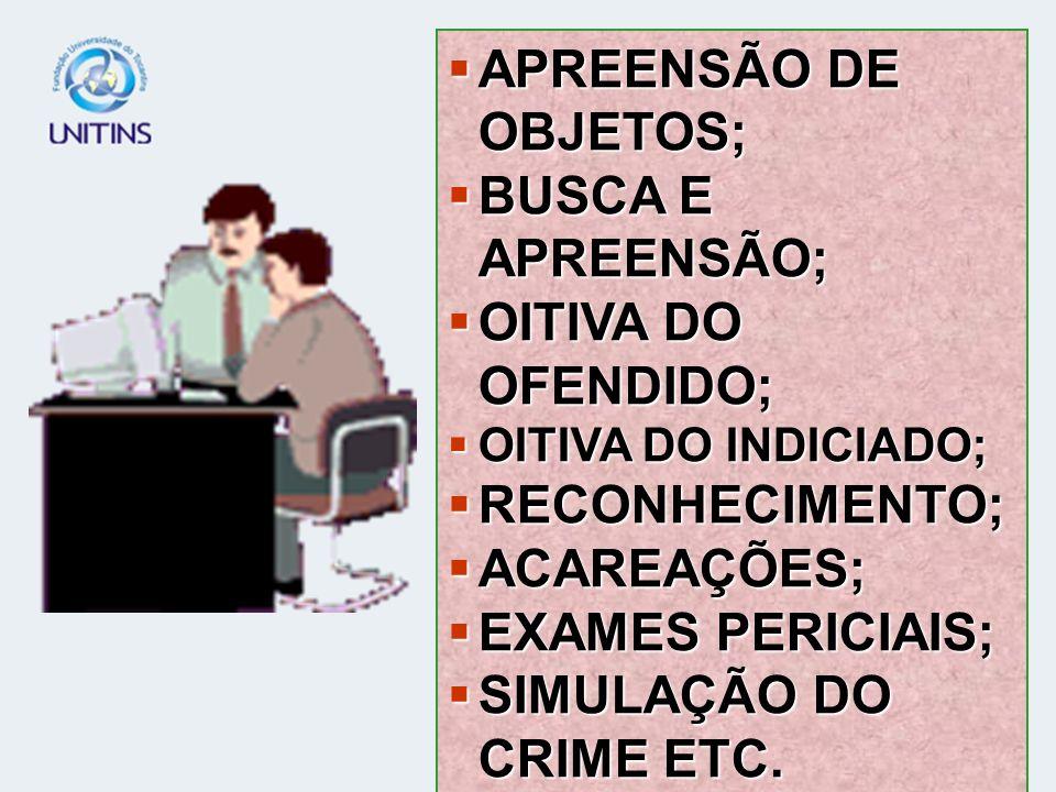 APREENSÃO DE OBJETOS; BUSCA E APREENSÃO; OITIVA DO OFENDIDO;