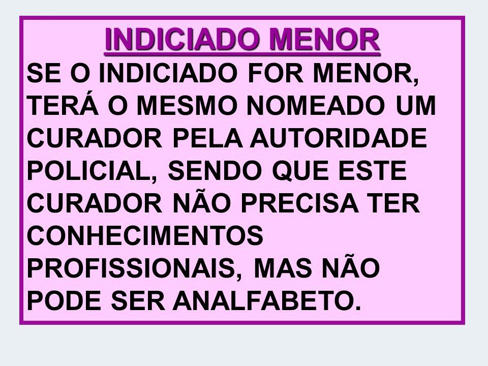 INDICIADO MENOR