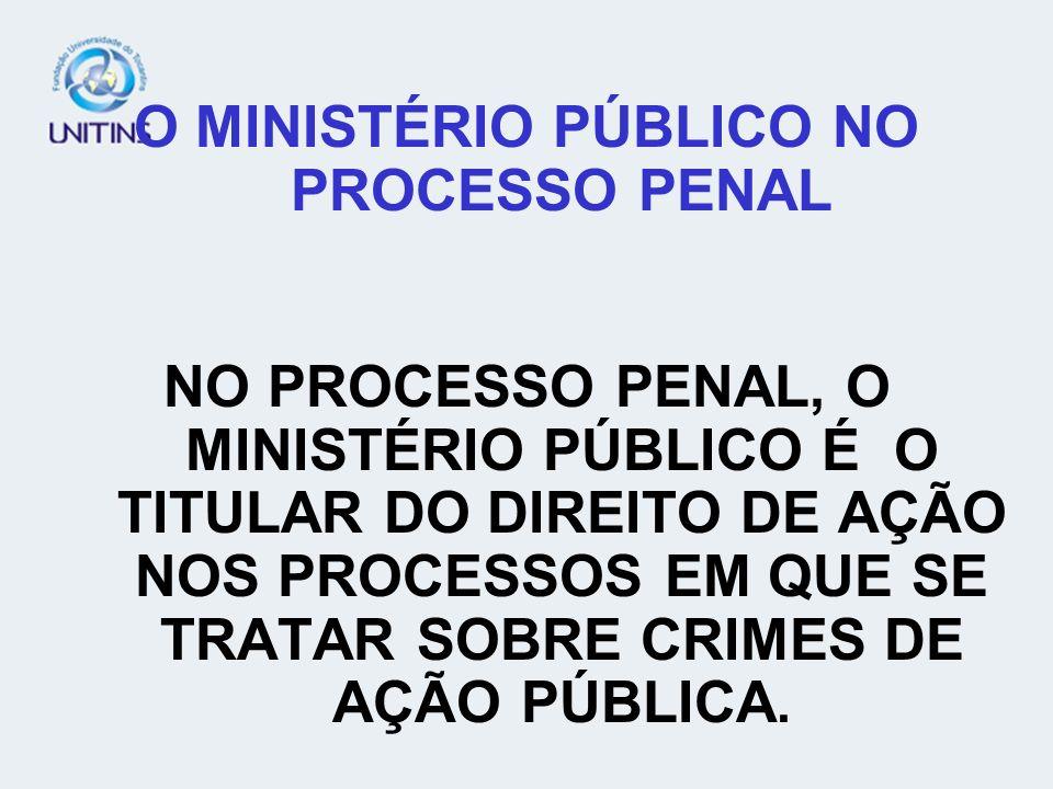 O MINISTÉRIO PÚBLICO NO PROCESSO PENAL