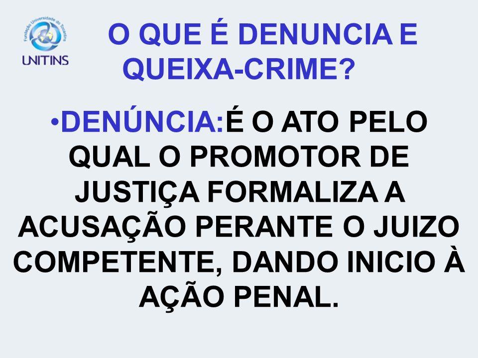 O QUE É DENUNCIA E QUEIXA-CRIME