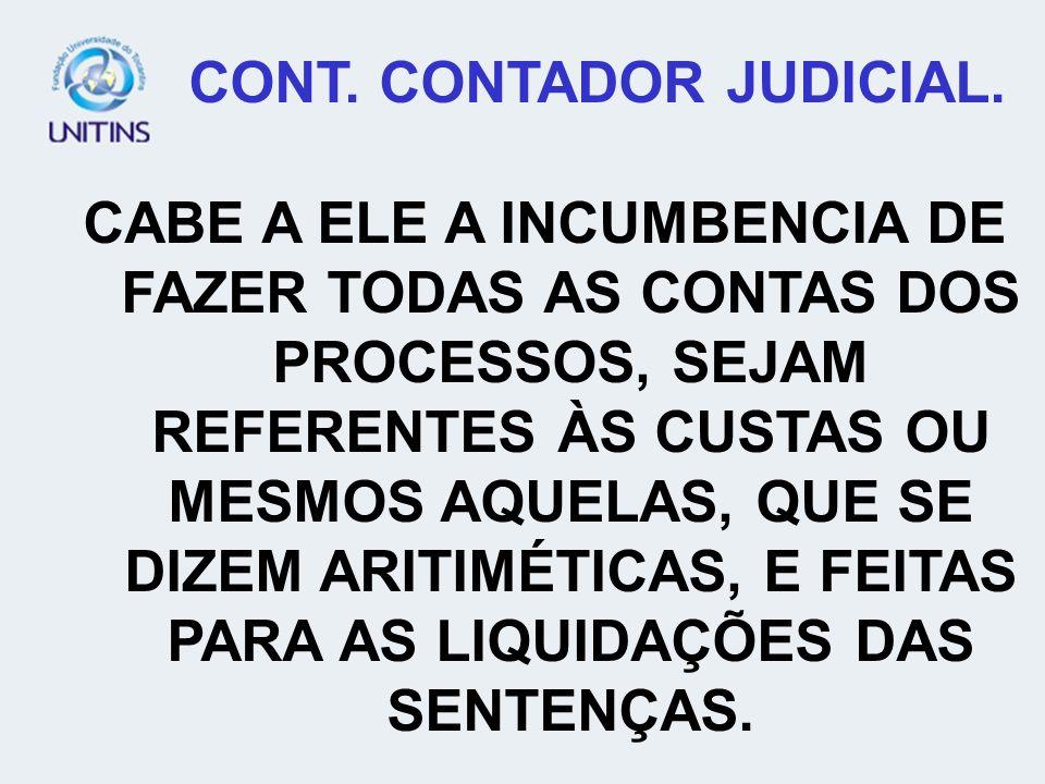 CONT. CONTADOR JUDICIAL.