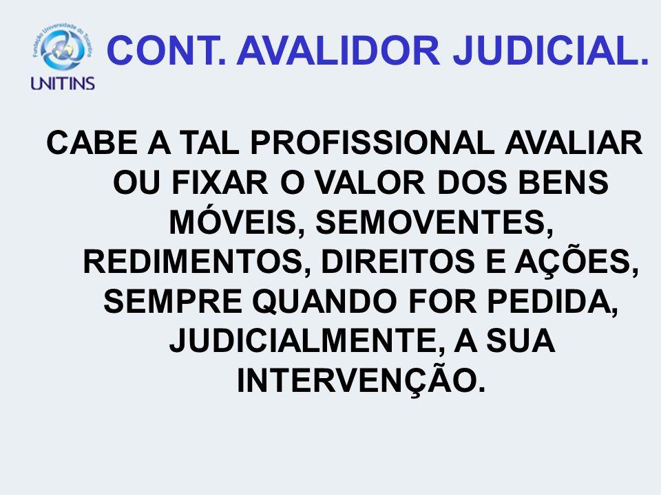 CONT. AVALIDOR JUDICIAL.