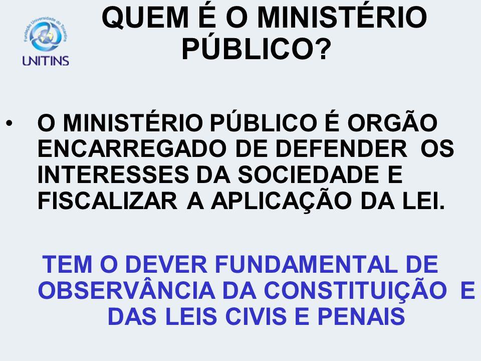 QUEM É O MINISTÉRIO PÚBLICO