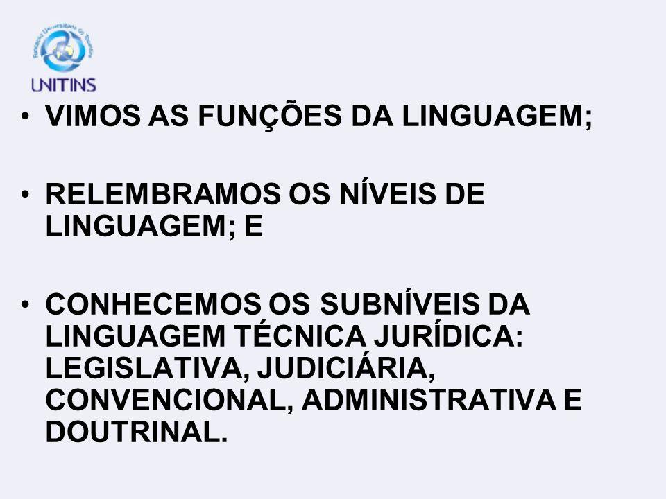 VIMOS AS FUNÇÕES DA LINGUAGEM;