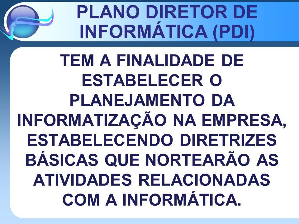 PLANO DIRETOR DE INFORMÁTICA (PDI)