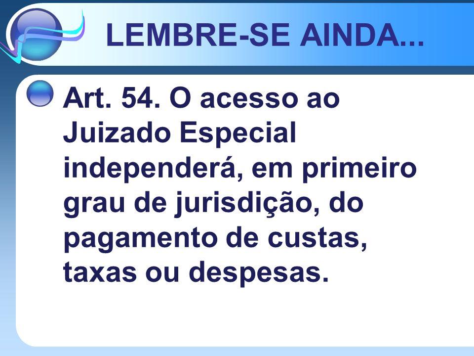 LEMBRE-SE AINDA... Art. 54.