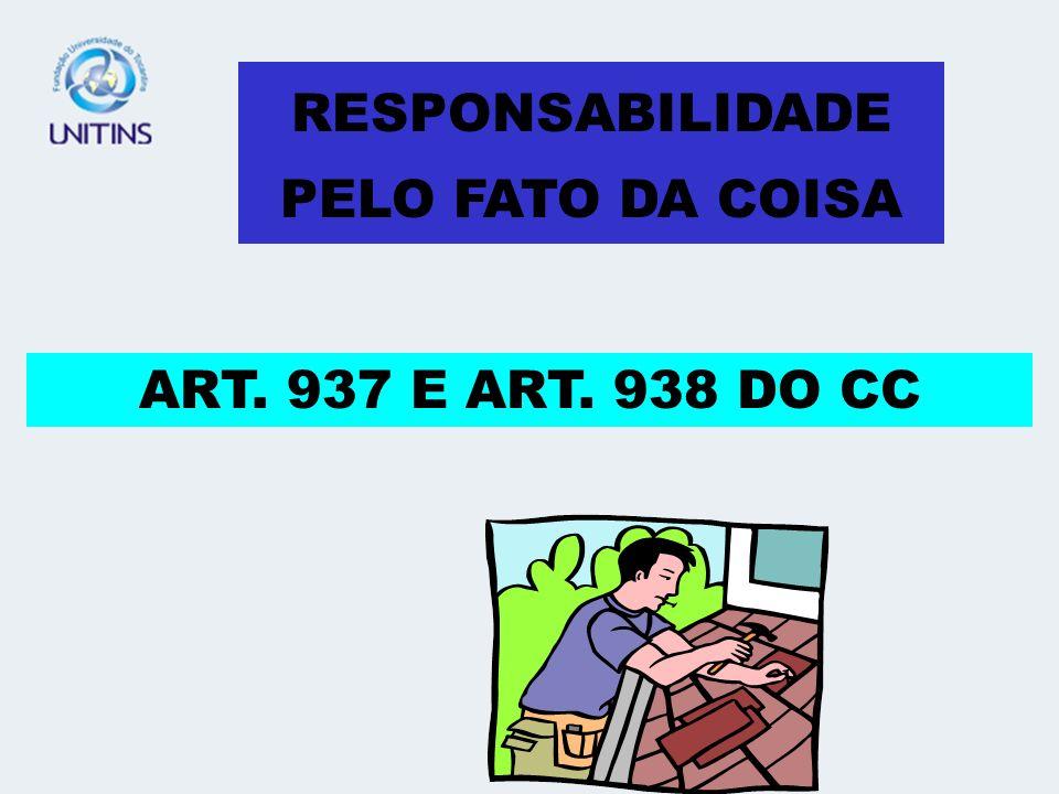 RESPONSABILIDADE PELO FATO DA COISA