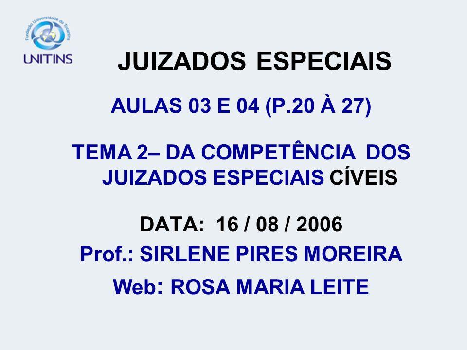 JUIZADOS ESPECIAIS AULAS 03 E 04 (P.20 À 27)