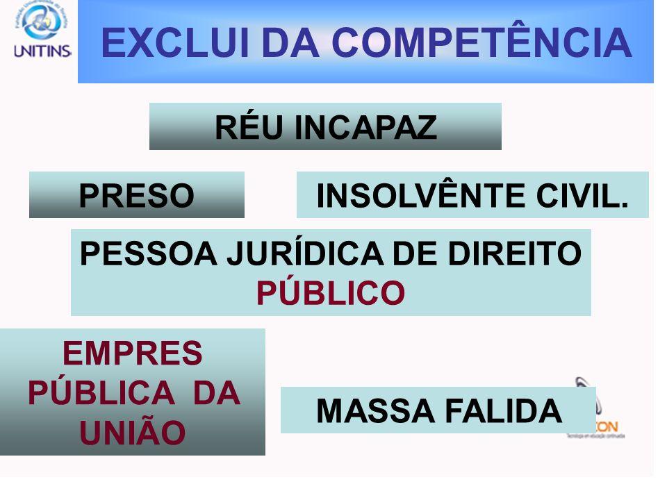 PESSOA JURÍDICA DE DIREITO PÚBLICO EMPRES PÚBLICA DA UNIÃO