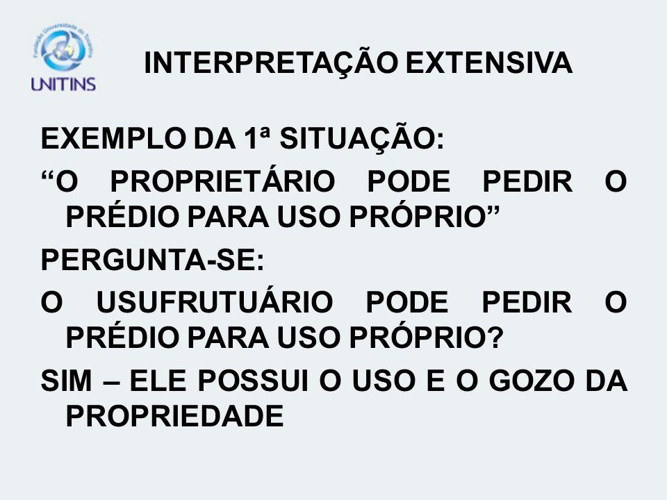 INTERPRETAÇÃO EXTENSIVA