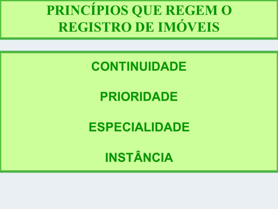 PRINCÍPIOS QUE REGEM O REGISTRO DE IMÓVEIS
