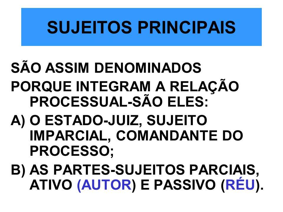 SUJEITOS PRINCIPAIS SÃO ASSIM DENOMINADOS