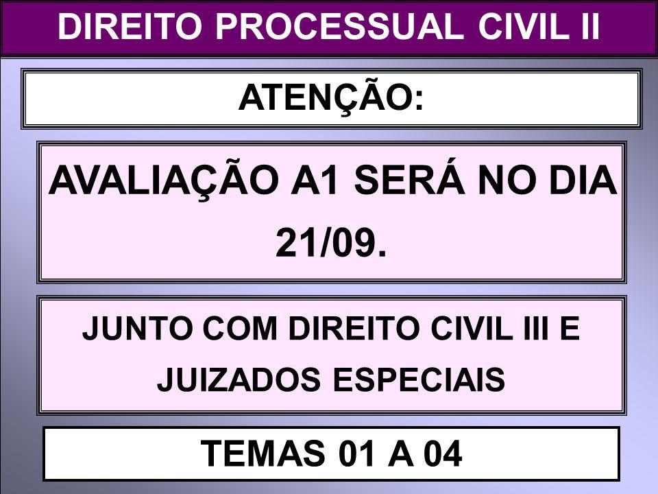 AVALIAÇÃO A1 SERÁ NO DIA 21/09.