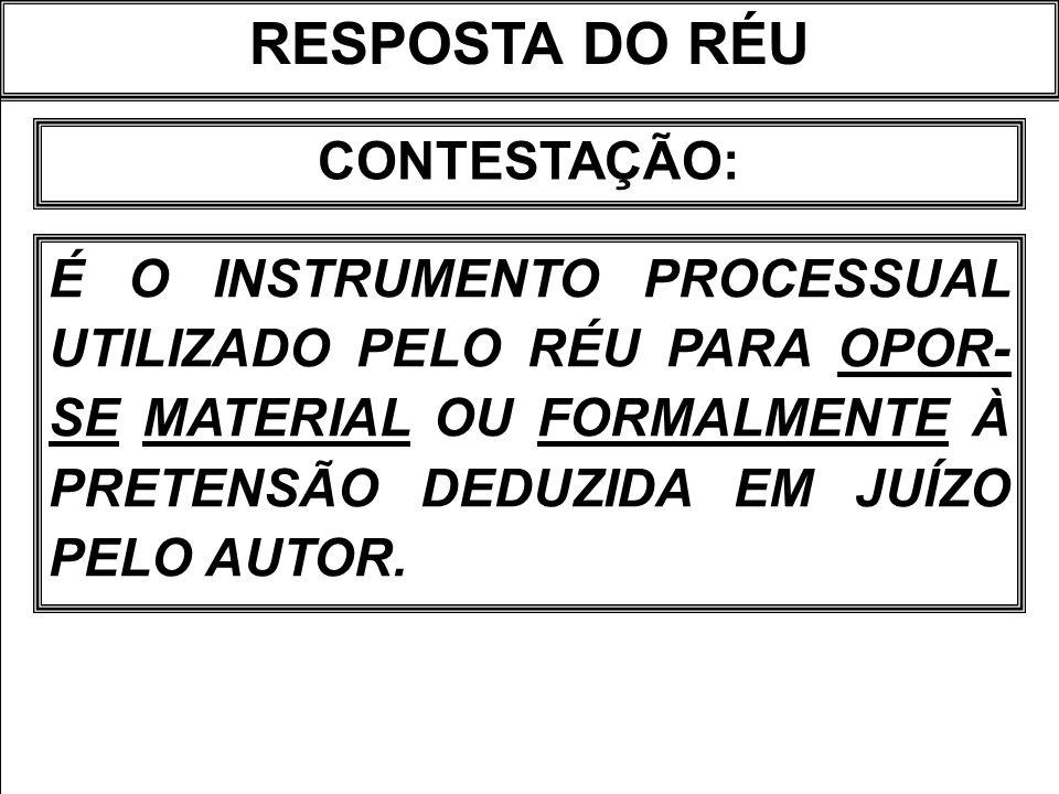 RESPOSTA DO RÉU CONTESTAÇÃO: