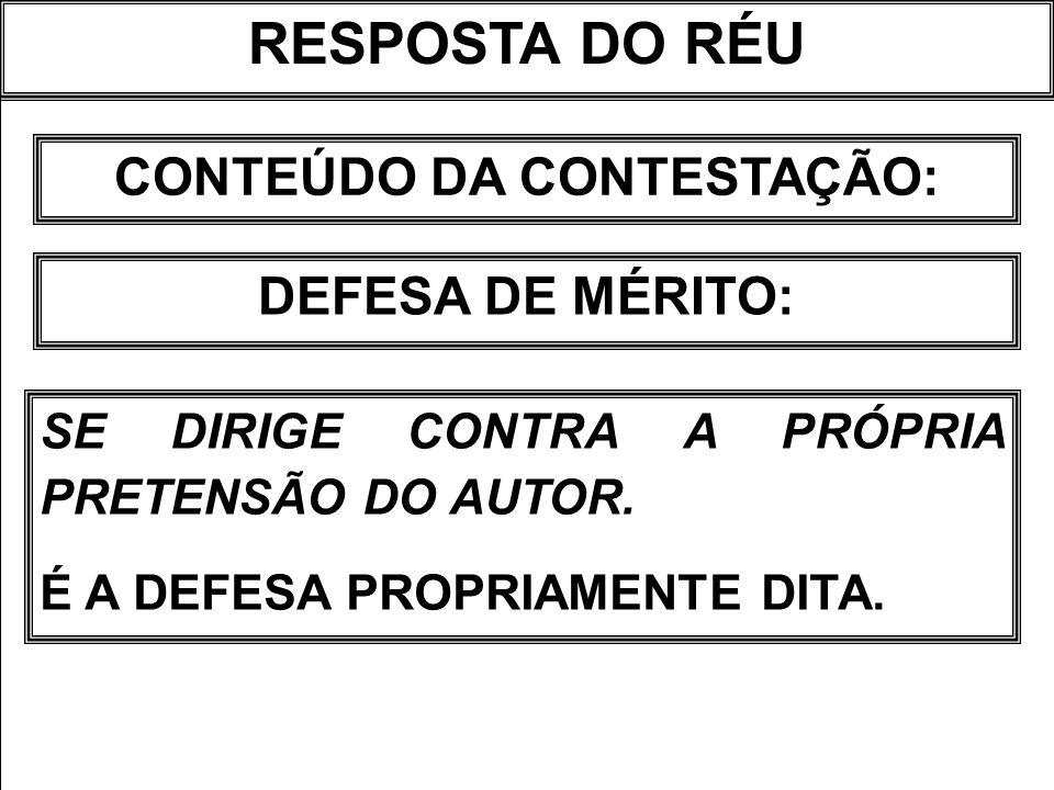 CONTEÚDO DA CONTESTAÇÃO: