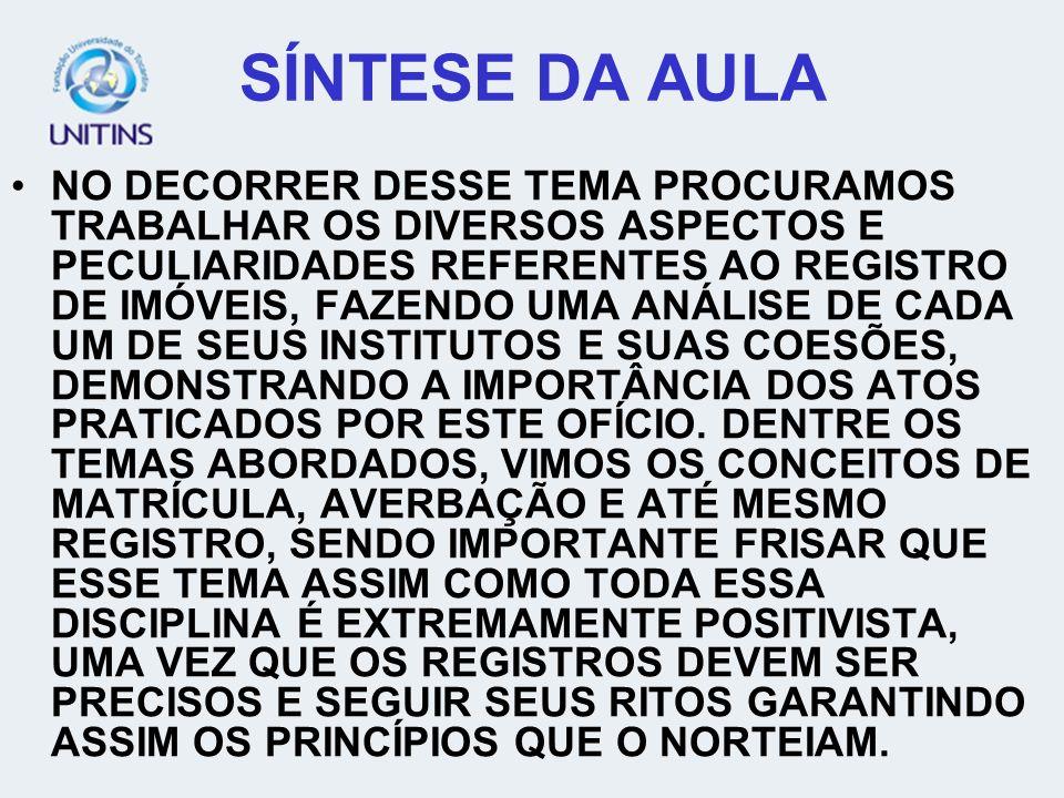 SÍNTESE DA AULA