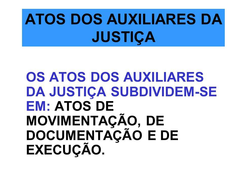 ATOS DOS AUXILIARES DA JUSTIÇA