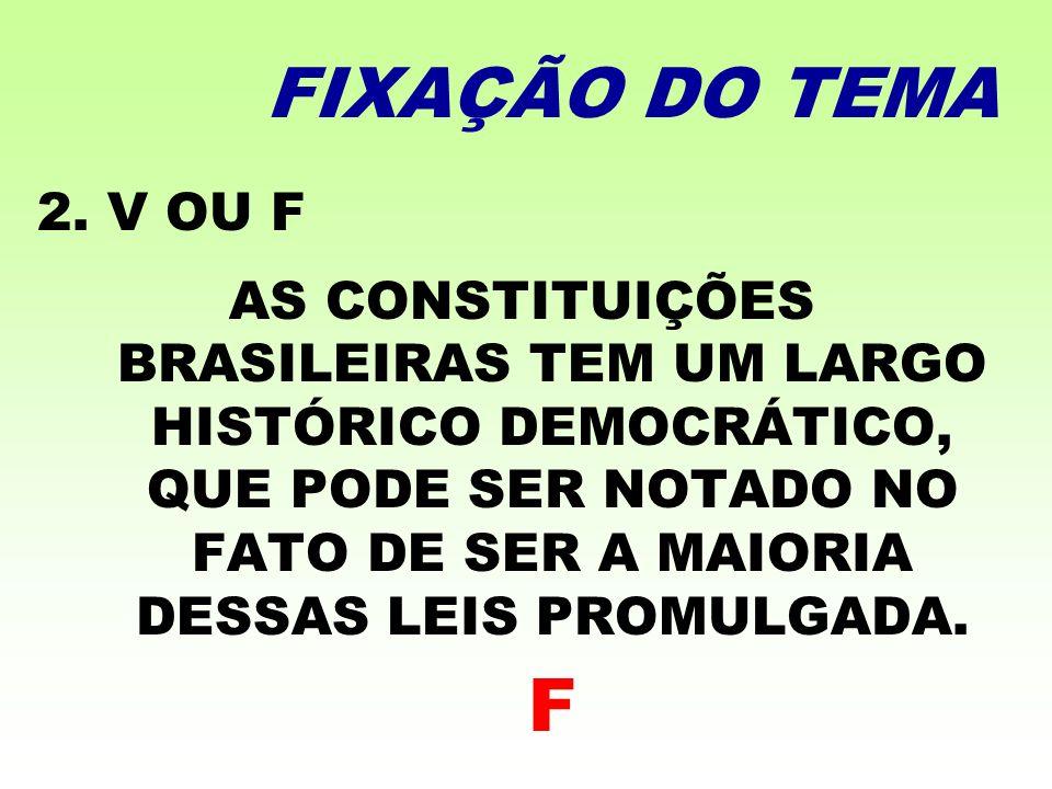 FIXAÇÃO DO TEMA 2. V OU F.