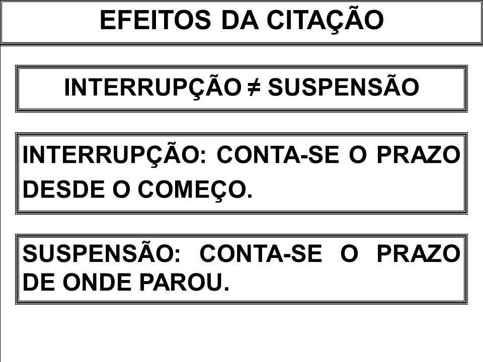 INTERRUPÇÃO ≠ SUSPENSÃO