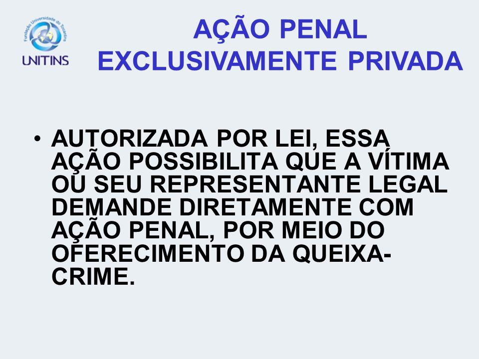 AÇÃO PENAL EXCLUSIVAMENTE PRIVADA