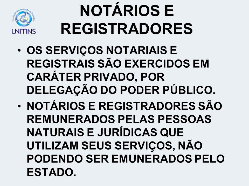 NOTÁRIOS E REGISTRADORES