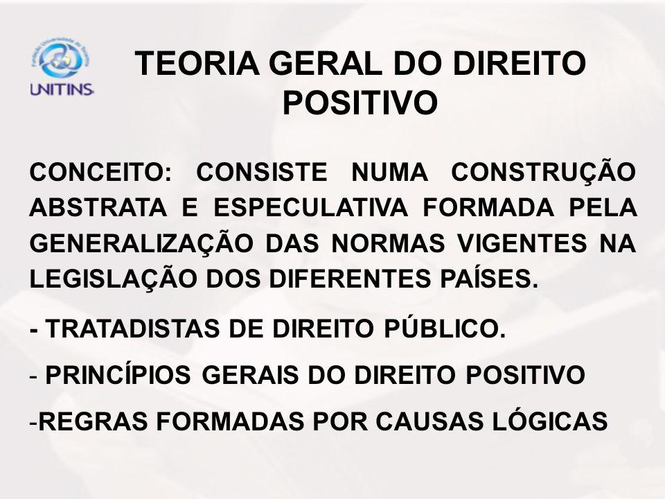 TEORIA GERAL DO DIREITO POSITIVO