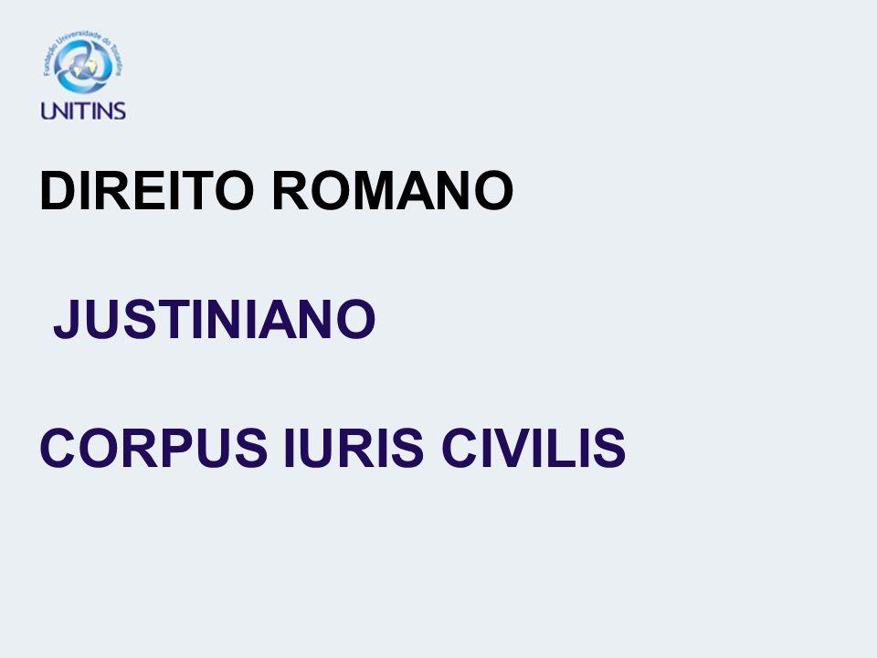 DIREITO ROMANO JUSTINIANO CORPUS IURIS CIVILIS
