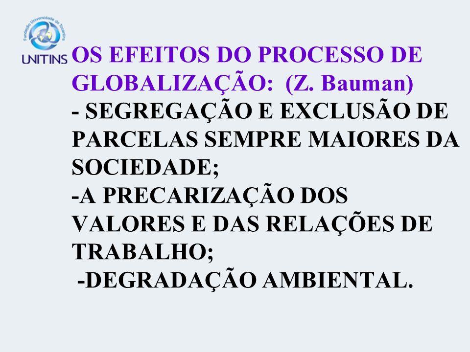 OS EFEITOS DO PROCESSO DE GLOBALIZAÇÃO: (Z