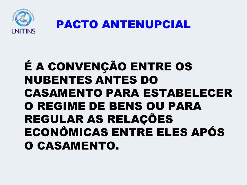 PACTO ANTENUPCIAL