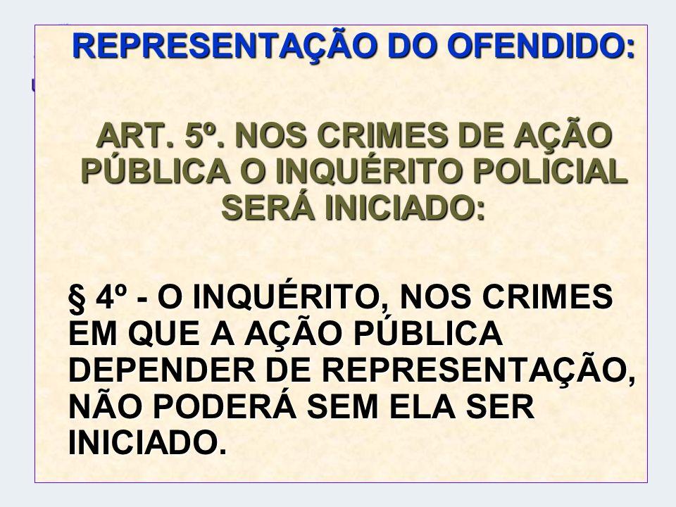 REPRESENTAÇÃO DO OFENDIDO: