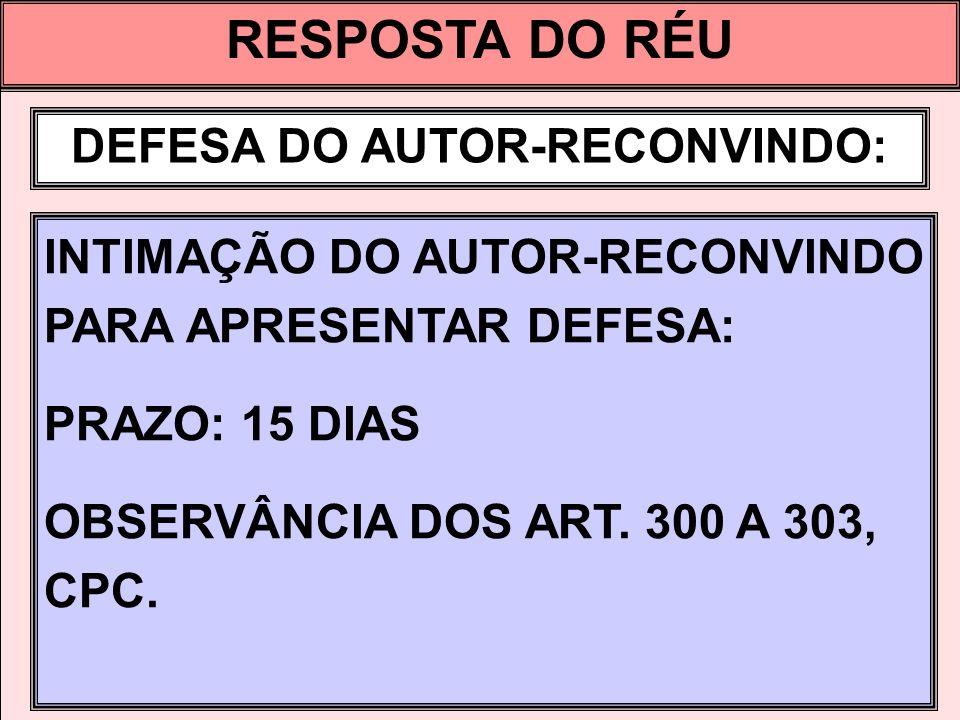 DEFESA DO AUTOR-RECONVINDO: