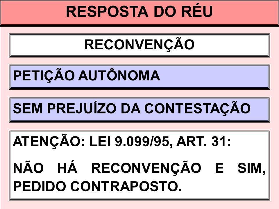 RESPOSTA DO RÉU RECONVENÇÃO PETIÇÃO AUTÔNOMA