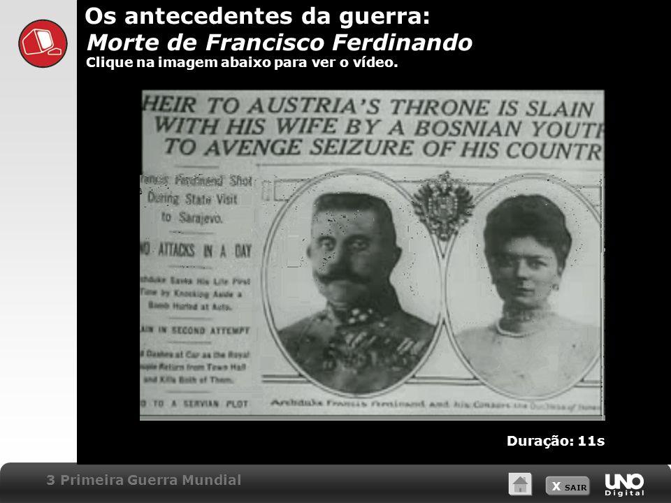 Os antecedentes da guerra: Morte de Francisco Ferdinando