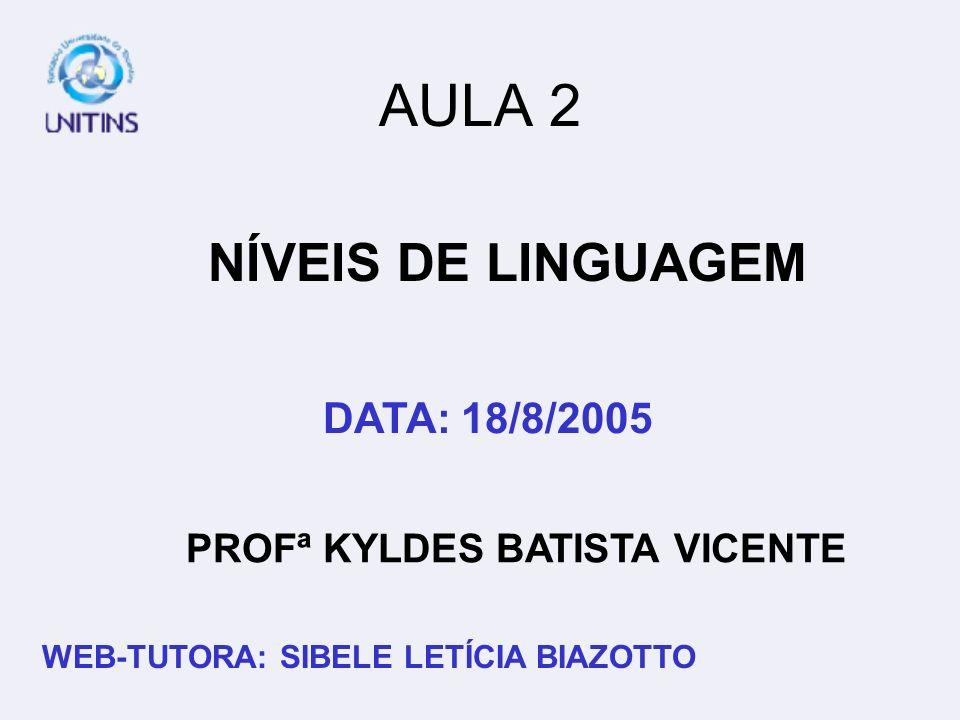 PROFª KYLDES BATISTA VICENTE