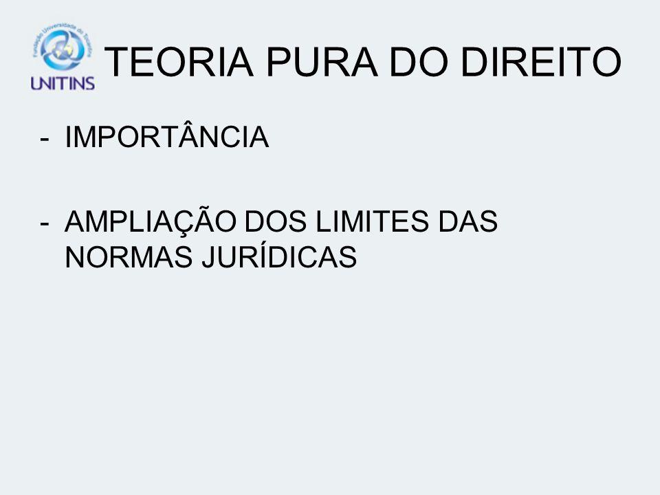TEORIA PURA DO DIREITO IMPORTÂNCIA