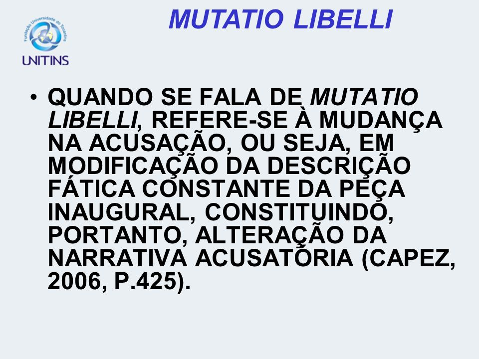 MUTATIO LIBELLI