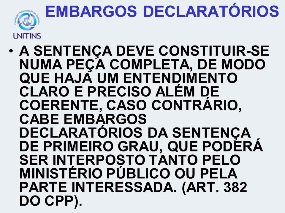EMBARGOS DECLARATÓRIOS