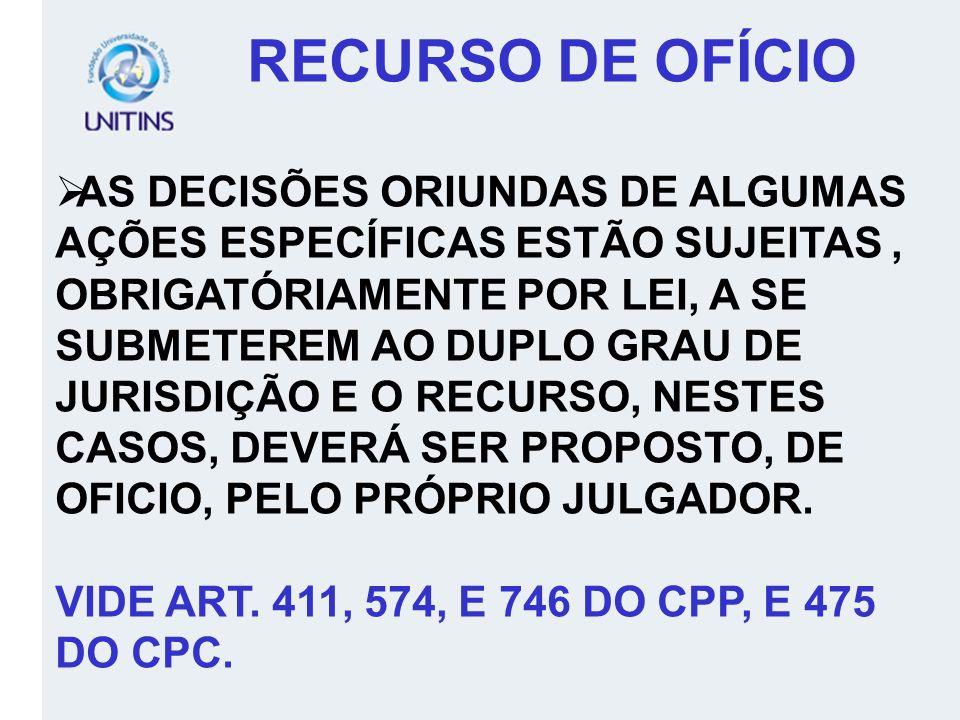 RECURSO DE OFÍCIO
