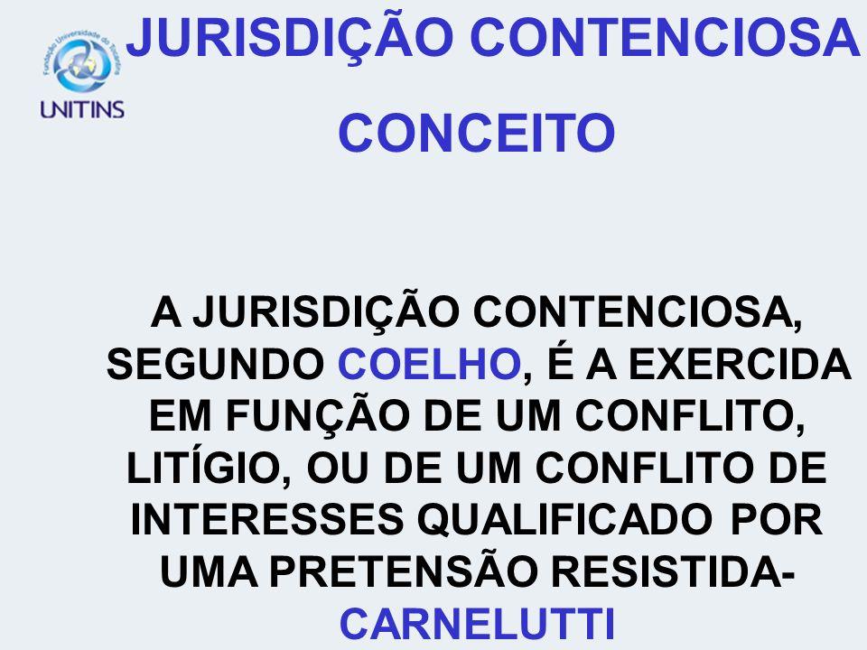 JURISDIÇÃO CONTENCIOSA CONCEITO