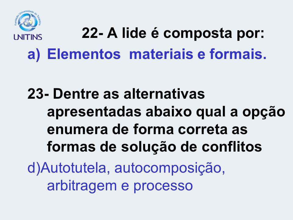 Elementos materiais e formais.