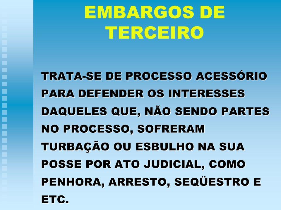 EMBARGOS DE TERCEIRO