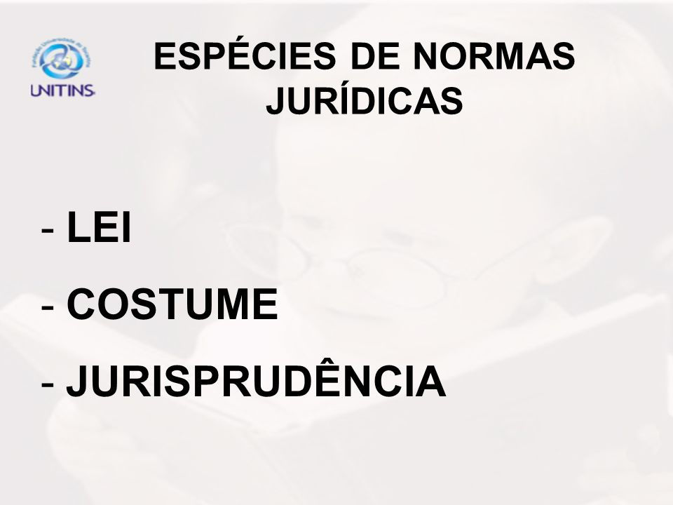 ESPÉCIES DE NORMAS JURÍDICAS
