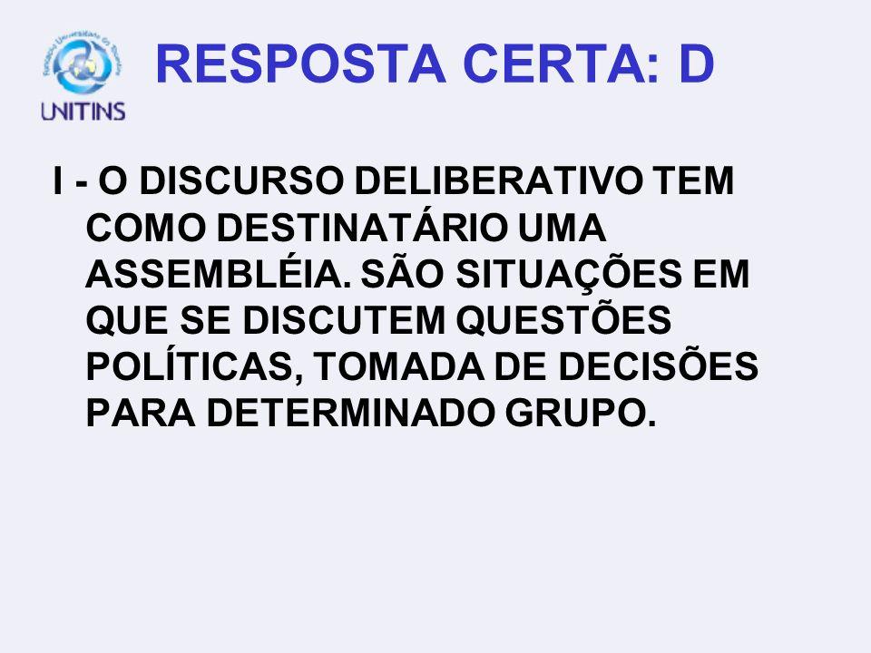 RESPOSTA CERTA: D