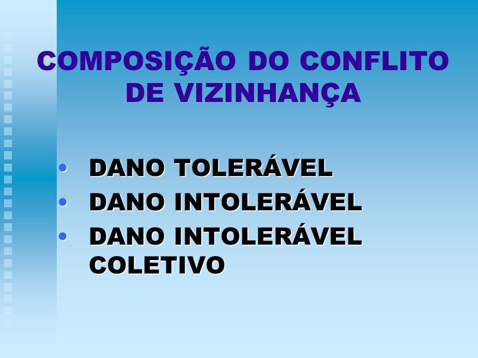 COMPOSIÇÃO DO CONFLITO DE VIZINHANÇA